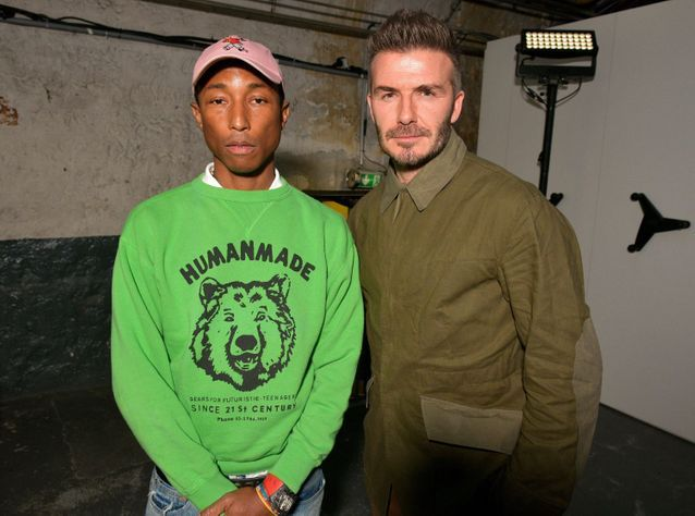 Pharrell Williams et David Beckham au defile Adidas MakerLab